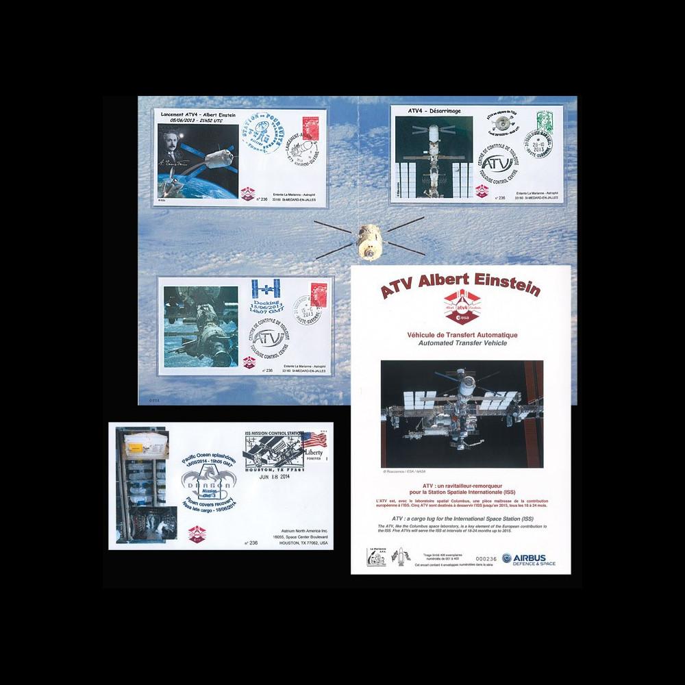 """ATV4-SC : 2014 - Collection Courrier de l'espace """"ARIANE Vol 213 - ATV 4 Einstein"""""""