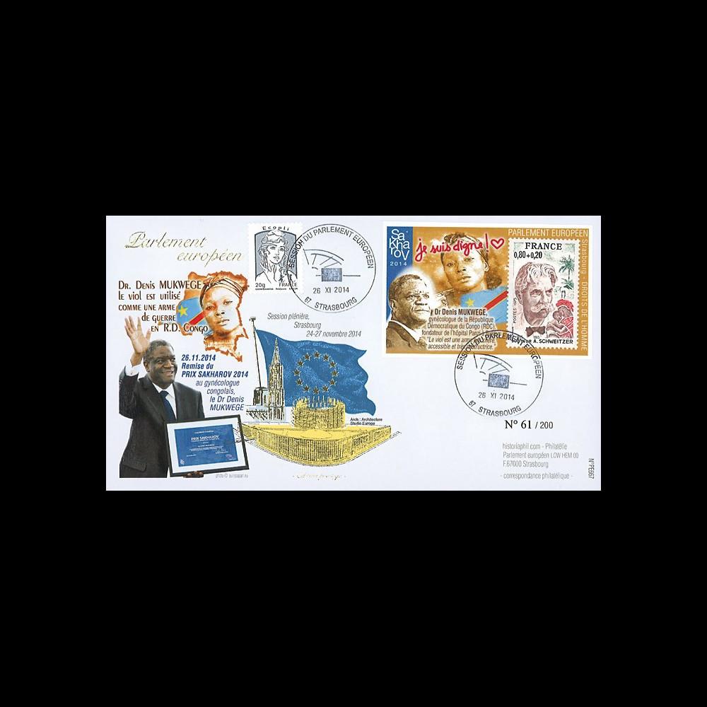 "PE667 : 11-2014 - FDC Parlement européen ""Prix Sakharov 2014 - Dr MUKWEGE"""