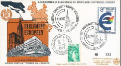 """EP4L-T1 : 1979 - FDC BELGIQUE """"Premières Élections Européennes au Parlement européen"""""""