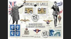 "PE675-2V : 2015 - Maxi FDC VARIETE ""Expo CHURCHILL & DE GAULLE - 70 ans Victoire"""