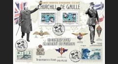 "PE675-3V : 2015 - Maxi FDC VARIETE ""Expo CHURCHILL & DE GAULLE - 70 ans Victoire"""