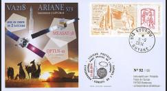 "VA218L-T1 : 2014 - FDC KOUROU ""Fusée ARIANE 5 - Vol 218 / OPTUS-10 & MEASAT-3B"""