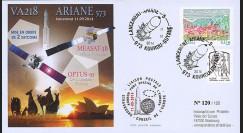 "VA218L-T2 : 2014 - FDC KOUROU ""Fusée ARIANE 5 - Vol 218 / OPTUS-10 & MEASAT-3B"""