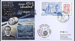 """VA219L-T1 : 2014 - FDC KOUROU """"Fusée ARIANE 5 - Vol 219 / ATV-5 Georges LEMAÎTRE"""""""