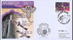 "VA221L-T2 : 2014 - FDC KOUROU ""Fusée ARIANE 5 ECA - Vol 221 / DIRECTV-14 & GSAT-16"""