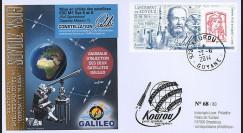 "VS09L : 2014 - FDC KOUROU ""Fusée SOYOUZ - Vol 9 / Constellation GALILEO - Marianne"""
