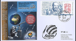 "VS09L : 2014 - FDC KOUROU ""Fusée SOYOUZ - Vol 9 / Constellation GALILEO - Marianne"""