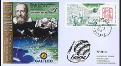 "VS11L : 2015 - FDC KOUROU ""Fusée SOYOUZ - Vol n°11 / Constellation GALILEO - ADAM"""