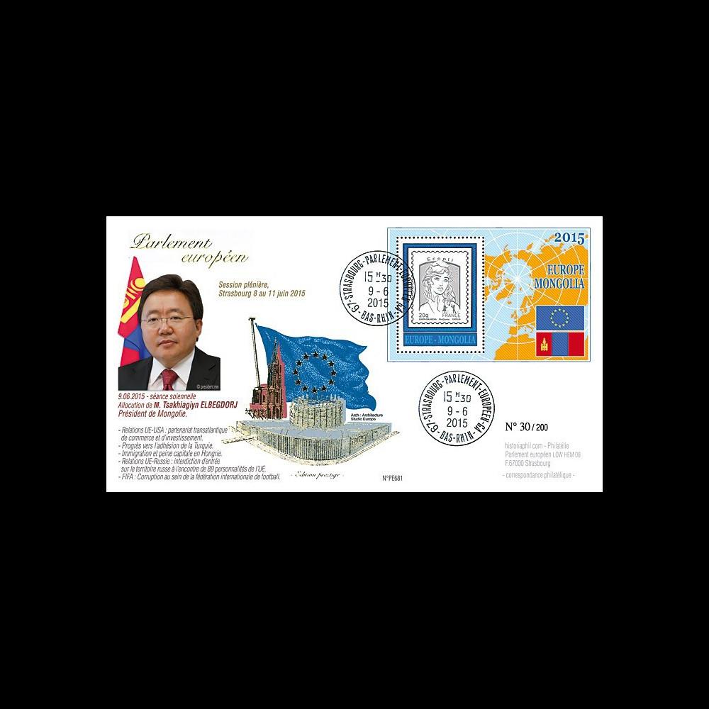 """PE681 : 9-6-2015 - FDC Parlement européen """"Président de Mongolie"""