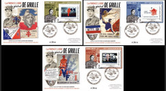 """DG15-1/3 : 2015 - 3 FDC """"75e anniversaire de l'Appel du 18 juin - de Gaulle"""" Série N°1"""