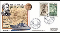 JV05-2 type2 : 2005 - FDC Centenaire de la mort de Jules Verne 1828-1905