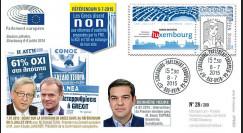 """PE682A : 07-2015 FDC Session PE """"Référendum grec NON - Tsipras au Parlement européen"""""""