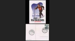 """W2-AL1341 : 1941 - CP Propagande """"Championnats allemands de ski en temps de guerre"""""""