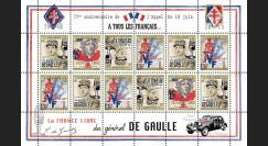 """DG15-3FD : 2015 - Feuillet 12 vignettes """"75 ans Appel 18 Juin 1940 - DE GAULLE : FFI"""""""