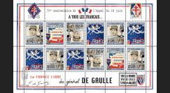 """DG15-5FD : 2015 - Feuillet 12 vignettes """"75 ans Appel 18 Juin - DE GAULLE : Libération"""""""
