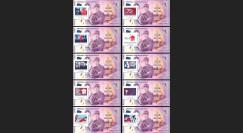 """DG15-10B-COL : 2015 - Collection 10 billets souvenir """"75 ans Appel du 18 juin - de Gaulle"""""""