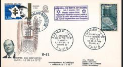 """AJ97-63 : FDC 1963 """"A la mémoire des déportés"""" / 1997 """"Chirac au mémorial du martyr juif"""""""