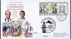 """HLF15-1 : 18-04-2015 - FDC """"Départ de la frégate de la liberté l'Hermione"""" - Ile d'Aix"""