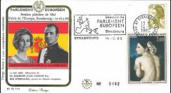"""PE114 : 1986 - FDC Session PE """"Visite officielle du Roi d'Espagne Juan Carlos 1er"""""""
