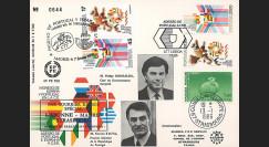 """PE106 : 1986 - FDC Emission commune """"Adhésion de l'Espagne et du Portugal à la CEE"""""""
