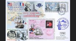 """HLF15-8 : 2015 - Maxi FDC FRANCE-USA """"Escale n°6 à Alexandria - L'HERMIONE"""""""