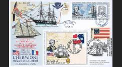 """HLF15-10 : 2015 - Maxi FDC FRANCE-USA """"Escale n°8 Baltimore - L'HERMIONE / LA FAYETTE"""""""