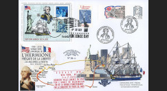 "HLF15-13 : 2015 - Maxi FDC FRANCE-USA ""Escale n°10 New York - L'HERMIONE / LA FAYETTE"""