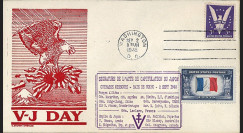 "W2-VJ1945L2 : 1945 - Enveloppe Patriotique USA ""V-J DAY - CAPITULATION DU JAPON"""