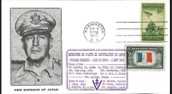 "W2-VJ1945L3 : 1945 - Enveloppe Patriotique USA ""V-J DAY - CAPITULATION DU JAPON"""