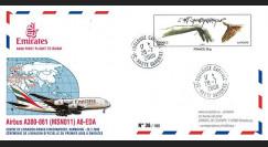 """A380-71 : 2008 - FFC FRANCE """"Livraison A380 Emirates - 1er vol Toulouse-Hambourg-Dubaï"""""""