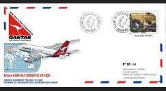 """A380-72 : 2008 - FFC FRANCE """"Livraison A380 Qantas Airways - 1er vol Toulouse-Sydney"""""""