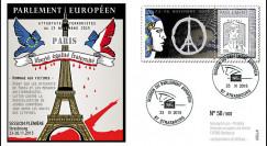 """PE687 : 11-2015 - FDC Parlement européen """"Hommage aux victimes des Attentats de Paris"""""""