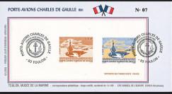 """PADG03T6 : 2003 - FDC """"1er Jour TP Porte-avions de Gaulle"""" sur gravure"""