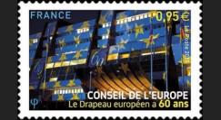 """CE66-PJN : 2015 - Timbre de service du Conseil de l'Europe """"60 ans du Drapeau européen"""""""