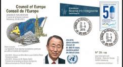 "CE66-III : 06-2015 - FDC Conseil de l'Europe ""Ban KI-MOON"