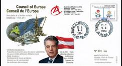 """CE65-II : 4-2014 - FDC Conseil Europe """"Présidence autrichienne - Visite de M. FISCHER"""""""