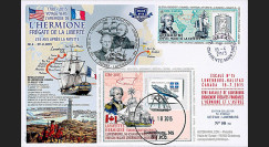 "HLF15-18 : 2015 - Maxi FDC FRANCE-CANADA ""Escale 15 Lunenburg - L'HERMIONE"""