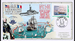 """HLF15-21 : 2015 - FDC FRANCE """"Escale 17 à Brest - Frégate L'HERMIONE / LA FAYETTE"""""""
