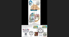 """HLF15-25 : 2015 - Carte Maxi USA-FRANCE """"Escale 19 Rochefort L'HERMIONE / LA FAYETTE"""""""