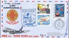 """A380-265 : 2014 - FFC FRANCE """"Airbus A380 Air France - 1er Vol Paris-Hong Kong"""""""