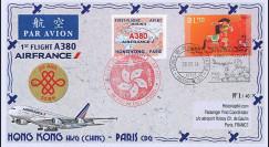 """A380-267T1 : 2014 - FFC CHINE """"Airbus A380 Air France - 1er Vol Hong Kong-Paris"""""""