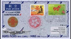 """A380-267T2 : 2014 - FFC CHINE """"Airbus A380 Air France - 1er Vol Hong Kong-Paris"""""""