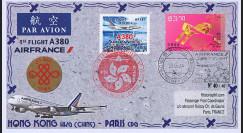 """A380-267T3 : 2014 - FFC CHINE """"Airbus A380 Air France - 1er Vol Hong Kong-Paris"""""""