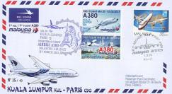 """A380-214T1 : 2013 - FFC MALAISIE """"A380 Malaysia Airlines 1er Vol Kuala Lumpur-Paris"""""""