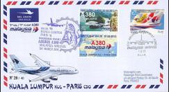 """A380-214T3 : 2013 - FFC MALAISIE """"A380 Malaysia Airlines 1er Vol Kuala Lumpur-Paris"""""""