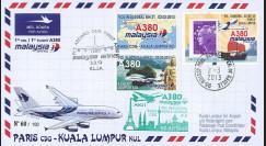 "A380-217 : 2013 - FFC FRANCE ""Airbus A380 Malaysia Airlines - 1er Vol Paris-Kuala Lumpur"""