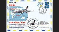 """A380-58 - 2008 : FFC """"A380 Singapore Airlines Vol livraison Toulouse-Singapour"""""""