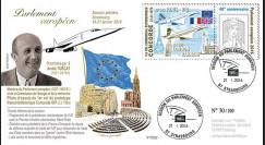 """PE692 : 01-2016 - FDC Parlement européen """"Hommage TURCAT - 40 ans 1er vol CONCORDE"""