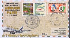 "A380-261 : 2014 - FFC CÔTE D'IVOIRE ""Airbus A380 Air France - 1er Vol Abidjan-Paris"""