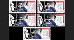 """PE689-PT1/5 : 2015 - Série 5 Marianne """"Attentats de Paris - ETAT D'URGENCE EN FRANCE / Marianne"""""""